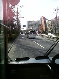 バスの最前列楽し☆