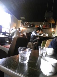 渋谷の屋根裏カフェで一服