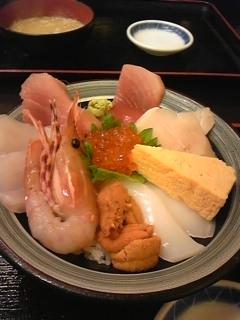 那珂湊で海鮮丼